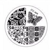 Диск для стемпинга STZ-А-04 кружево и бабочки