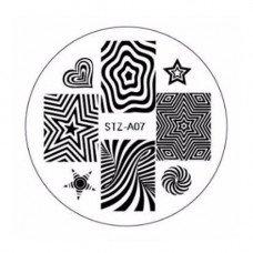 Диск для стемпинга узоры звезды STZ-A-07