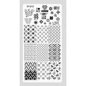 Плитка для стемпинга XY-Z12 разнообразные принты