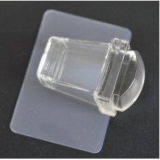 Прозрачный силиконовый штамп для стемпинга и скрапер