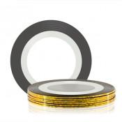 Лента для декора клеевая золотая 1 мм