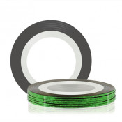 Лента для декора клеевая зеленая 1 мм