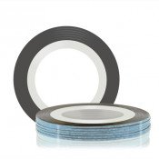 Лента для декора клеевая серебристо-голубая 1 мм