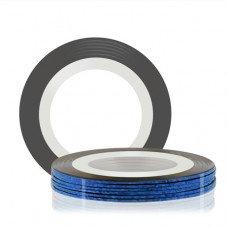 Лента для декора клеевая синяя 1 мм