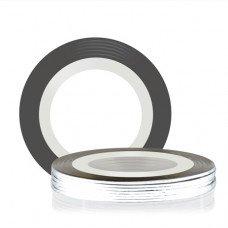 Лента для декора клеевая серебряная 1 мм