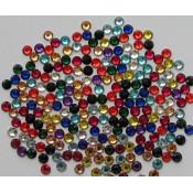 Стразы разноцветные микс SS6 100 шт. стеклянные аналог Сваровски