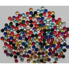 Купить стразы разноцветные микс SS6 1440 шт. стеклянные аналог Сваровски
