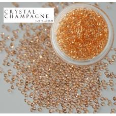 Хрустальная крошка Crystal Champange 100 шт. аналог Сваровски