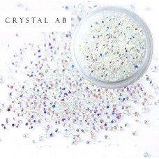 Хрустальная крошка Crystal Crystsal Ab 100 шт. аналог Сваровски