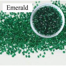 Хрустальная крошка Crystal Emerald 100 шт. аналог Сваровски