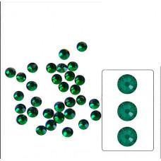 Стеклянные стразы Emerald SS6 100 шт.  аналог Сваровски