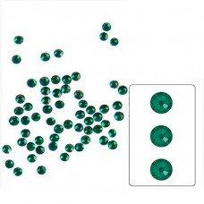 Стеклянные стразы Emerald SS4 100 шт.  аналог Сваровски