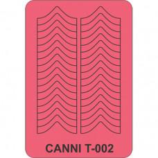 Трафарет для декора ногтей Canni T-002