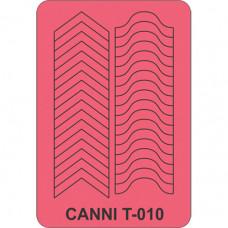 Трафарет для декора ногтей Canni T-010