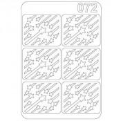 Виниловый трафарет для ногтей OM-072