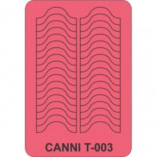 Трафарет для декора ногтей Canni T-003