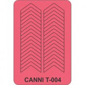Трафарет для декора ногтей Canni T-004