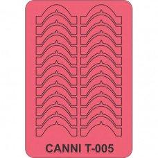 Трафарет для декора ногтей Canni T-005