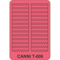 Трафарет для декора ногтей Canni T-006
