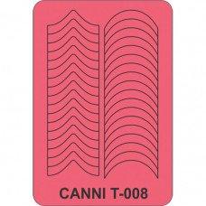Трафарет для декора ногтей Canni T-008
