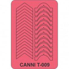 Трафарет для декора ногтей Canni T-009