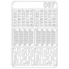 Виниловый трафарет для ногтей Olmax OM-67