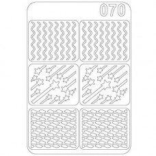 Виниловый трафарет для ногтей Olmax OM-70