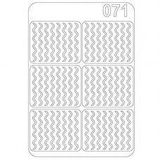 Виниловый трафарет для ногтей Olmax OM-71