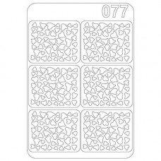 Виниловый трафарет для ногтей Olmax OM-77
