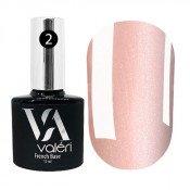 French rubber base Valeri 002 светло-розовая с серебристым микроблеском 12 мл