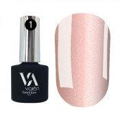 French rubber base Valeri 001 светло-розовая с золотистым микроблеском 6 мл