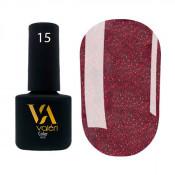 Гель-лак Valeri Color 015 винно-бордовый с микроблеском 6 мл