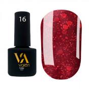 Гель-лак Valeri Color 016 бордовый с блестками 6 мл