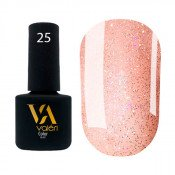 Гель-лак Valeri Color 025 персиковый с блестками 6 мл