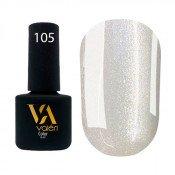 Гель-лак Valeri Color 105 жемчужный с микроблеском 6 мл