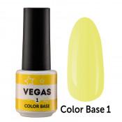 Цветная база Vegas Color base 001 6 мл - пастельно-желтая
