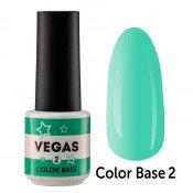 Цветная база Vegas Color base 002 6 мл - мятная