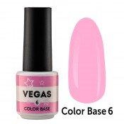Цветная база Vegas Color base 006 6 мл - нежно-розовая