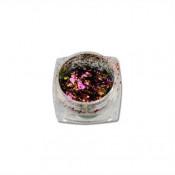 Хлопья Юки 03 розовые с бронзой