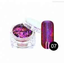 Хлопья Юки Tnl-07 - фиолетово-синяя втирка для ногтей с насыщенным пигментом