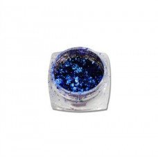 Хлопья Юки 06 синяя втирка для ногтей с насыщенным пигментом