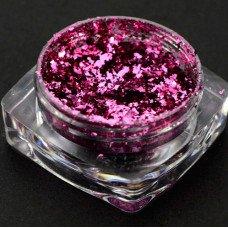 Однотонные хлопья юки 07 - пурпурные, втирка для ногтей с насыщенным пигментом