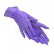 Перчатки нитриловые фиолетовые (размер L - 10 шт/уп) нестерильные неопудреные