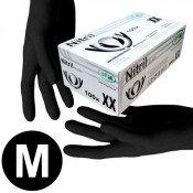Перчатки нитриловые черные (размер M - 2 шт/уп) нестерильные неопудреные