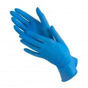 Перчатки нитриловые голубые (размер M - 10 шт/уп) нестерильные неопудреные