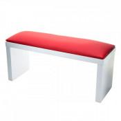 Подставка для рук маникюрная на ножках белая с красной подушкой