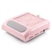 Вытяжка для маникюра Simei 858 8 с НЕРА фильтром 80w розовая