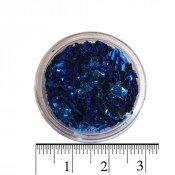 Слюда для ногтей в баночке синяя