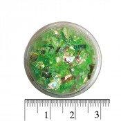 Слюда для ногтей в баночке зеленая