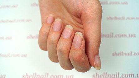 Результат: ногти после снятия гель-лака